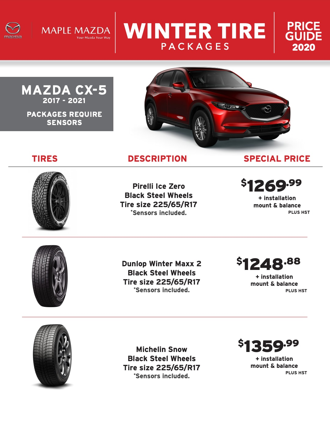 Winter Tire Packages in Maple, Ontario - MAZDA CX-5