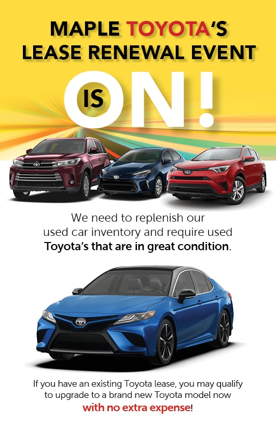Lease Renewal Promotion - Maple Toyota