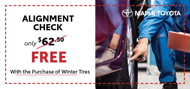 Free Alignment with Purchase of Winter Tires