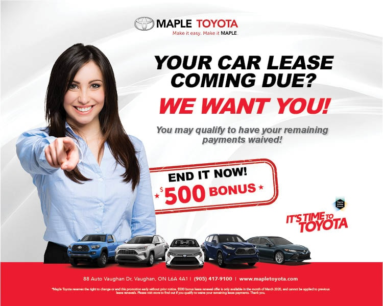 Your Toyota Lease Coming Due? We Want You!