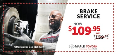 Brake Service for $109.95
