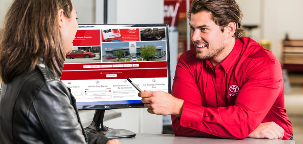 Start your Purchase Online at Maple Toyota