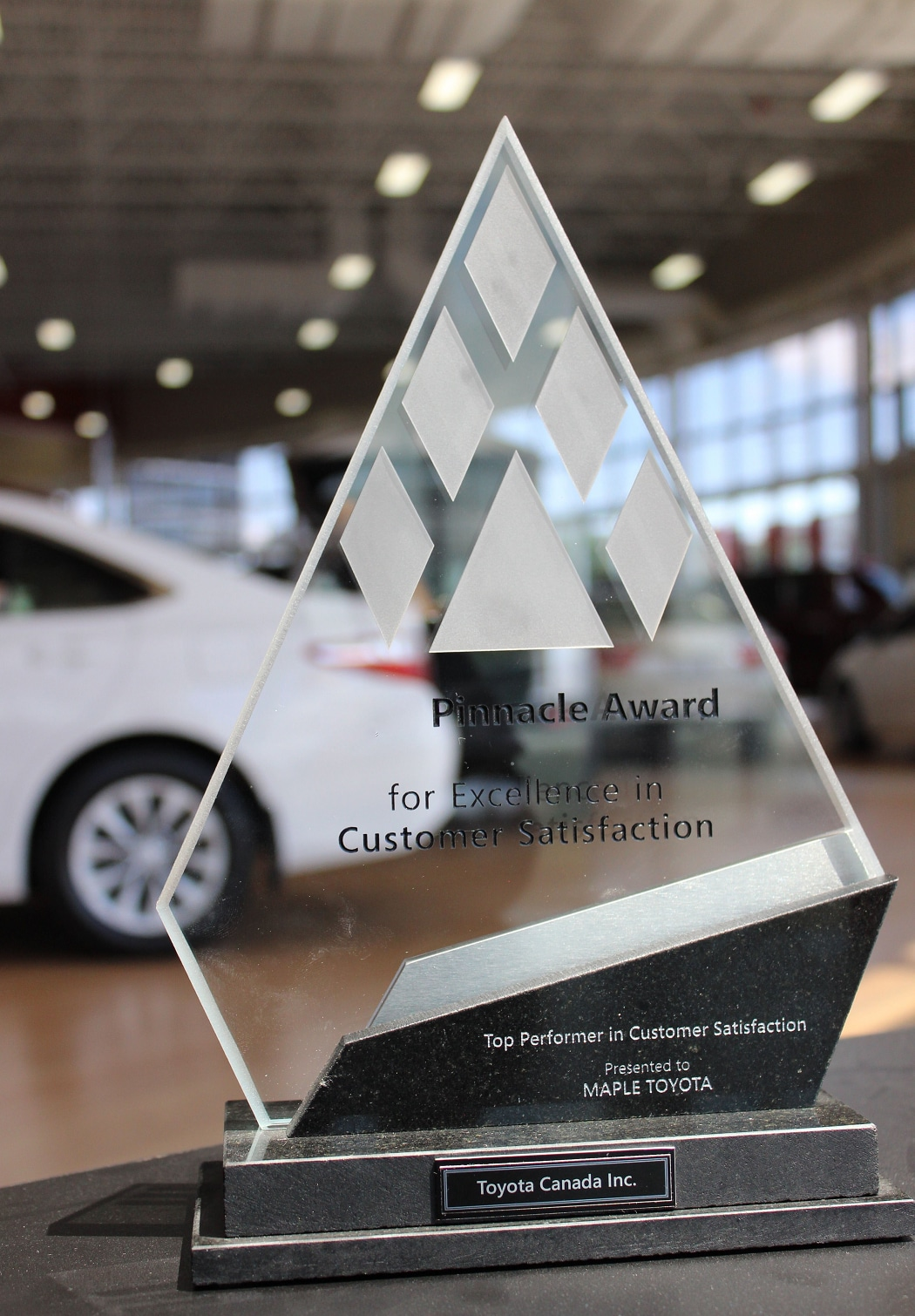 Top Performer in Customer Satisfaction - Toyota Pinnacle Award