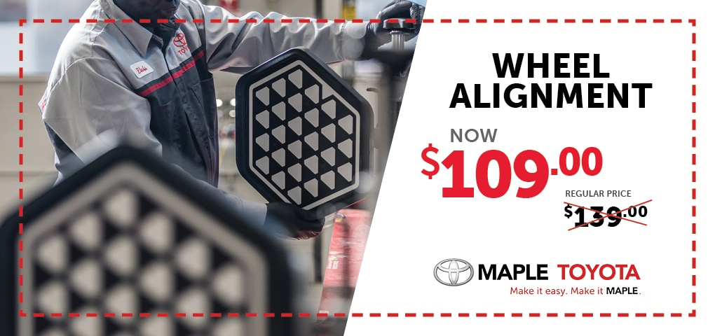 Wheel Alignment | Maple Toyota