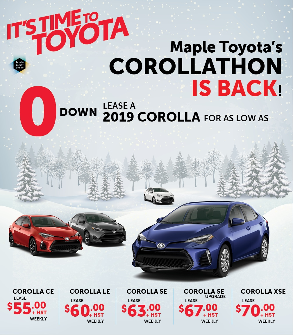 Lease A Toyota Corolla: Maple Toyota Vaughan ON