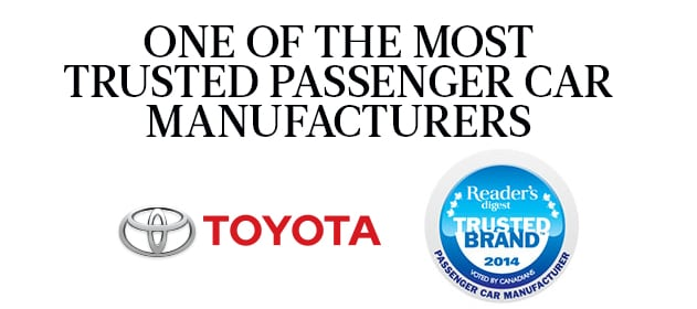 Canada's Most Trusted Passenger Car Brand - Maple Toyota