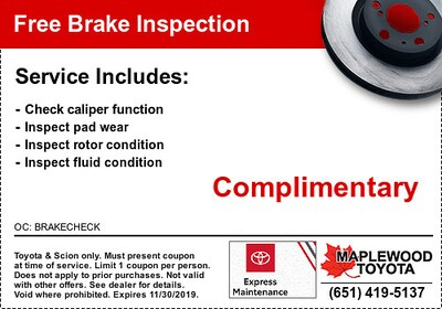 Free Toyota Brake Inspection