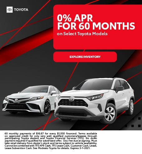 0% APR for 60 Months February
