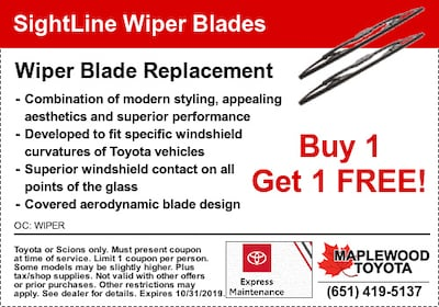 Wiper Blade Replacement Coupon