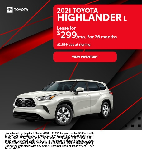 2021 Toyota Highlander L February