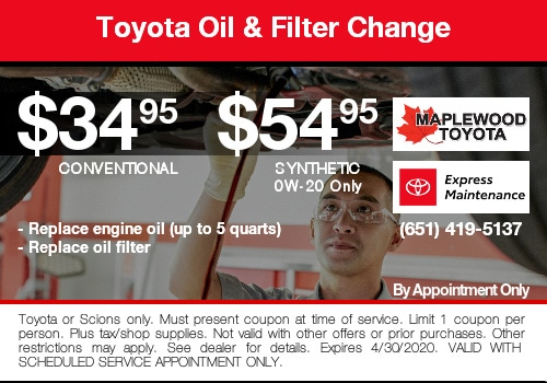 toyota oil change coupon