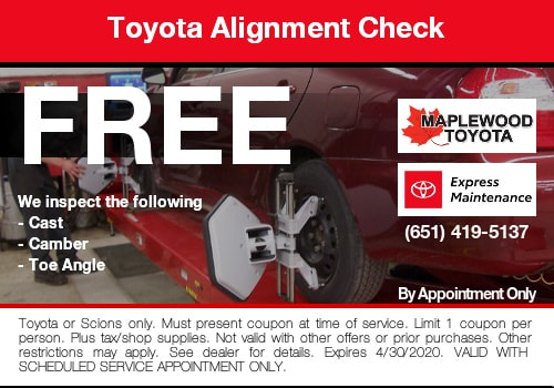 toyota alignment check coupon