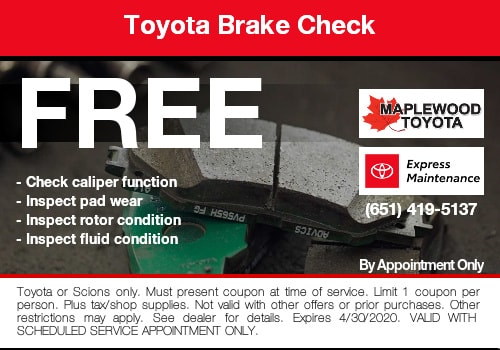 toyota brake check coupon