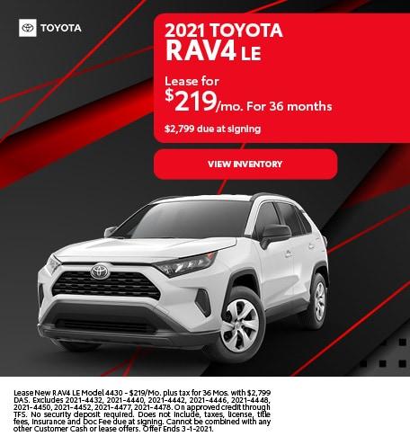 2021 Toyota RAV4 LE February