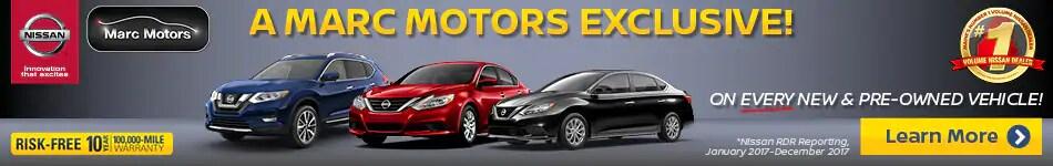 Marc Motors Nissan 10 Year Warranty