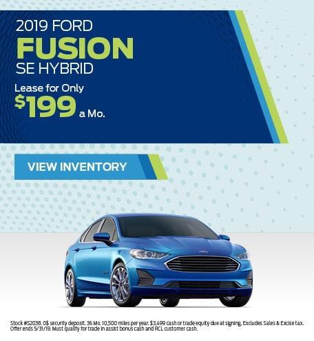 New 2019 Ford Fusion SE Hybrid 5/8/2019