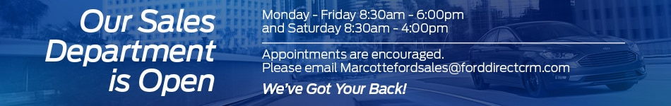 Update from Marcotte Ford