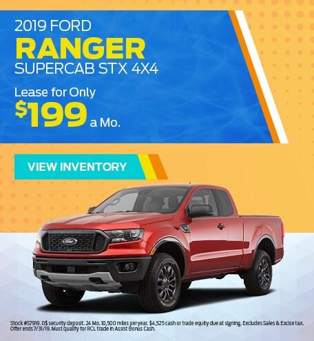 New 2019 Ford Ranger 7/8/2019