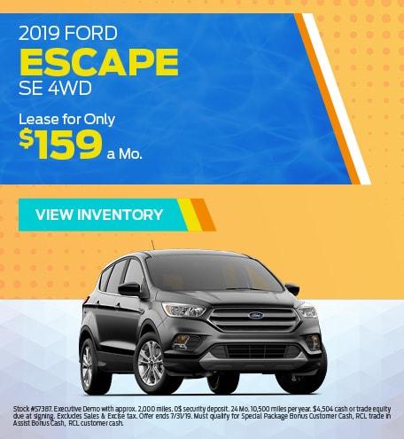 New 2019 Ford Escape 7/8/2019