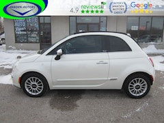 2014 FIAT 500c Lounge. Convertible. Leather. Htd Seats. Convertible