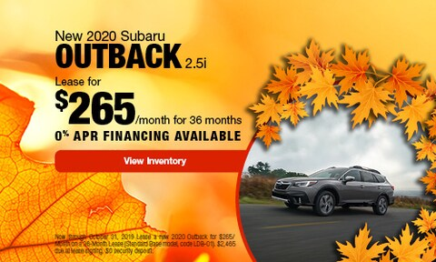 2020 Subaru Outback   Lease Offer   October