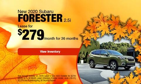 2020 Subaru Forester   Lease Offer   October