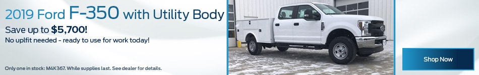 2019 Ford F-350 with Utility Body
