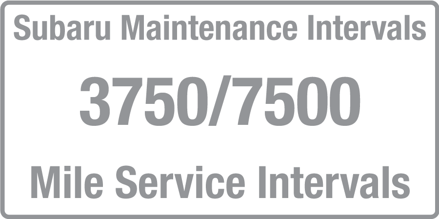 subaru outback service interval