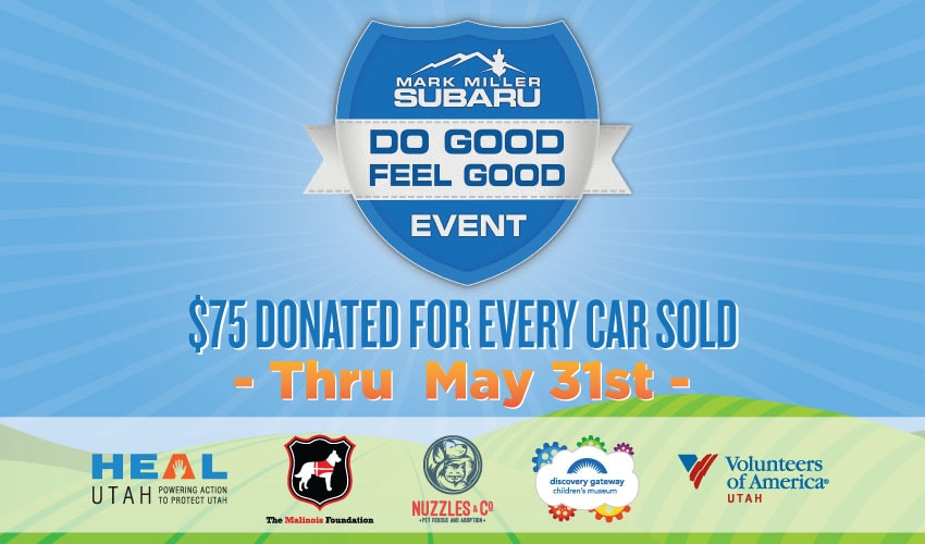 Mark Miller Subaru Southtowne >> Do Good Feel Good Event | Mark Miller Subaru South Towne