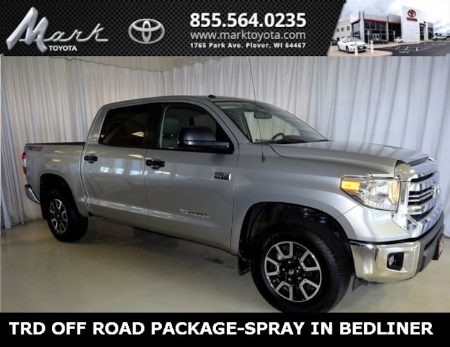 Used 2017 Toyota Tundra SR5 CrewMax 5.7L V8 4x4 w/TRD Off Road Package & S Truck in Plover, WI