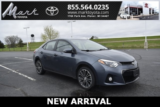 Certified Pre-Owned 2016 Toyota Corolla S Plus w/Bluetooth, Backup Camera & Sport Alloy Wh Sedan in Plover, WI