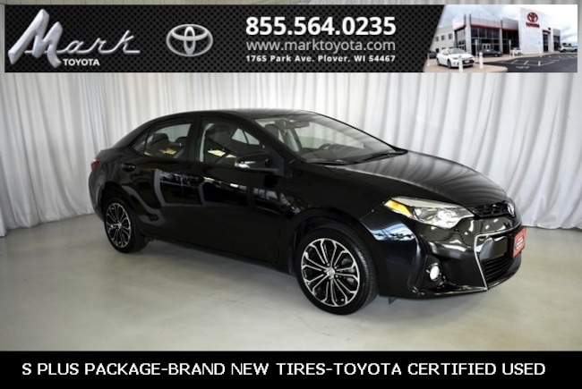 Certified Pre-Owned 2016 Toyota Corolla S Plus w/Bluetooth, Backup Camera & Alloy Wheels Sedan in Plover, WI