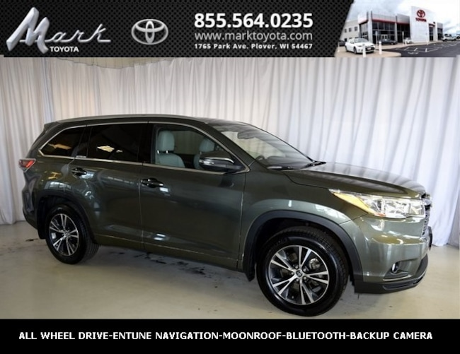 Used 2016 Toyota Highlander XLE V6 All Wheel Drive w/Heated Leather Seats, Moo SUV in Plover, WI