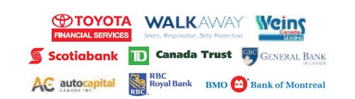 Toyota Financial Service, Weins Canada Leasing, Scotiabank, TD Canada Trust, and more