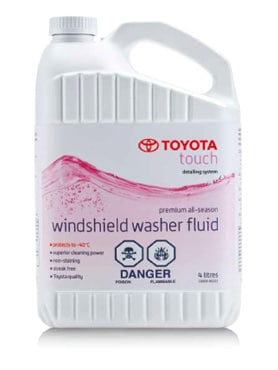 Toyota Touch Windshield Washer Fluid