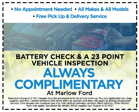 ALWAYS Complimentary At Marlow Ford