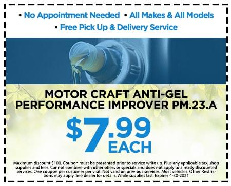 Motor Craft Anti-Gel Performance Improver PM.23.A $7.99 Each