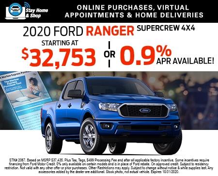 2020 Ford Ranger SuperCrew 4x4