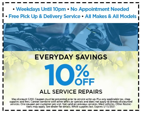 EVERYDAY SAVINGS GET 10% ALL OFF SERVICE REPAIRS