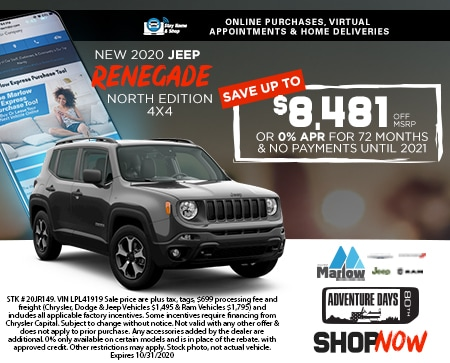 2020 Jeep Renegade North Edition 4X4