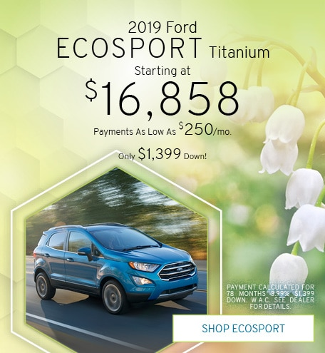 Pre-Owned 2019 Ford EcoSport | Starting at $16,858