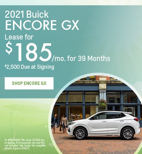 New 2021 Buick Encore GX | Lease