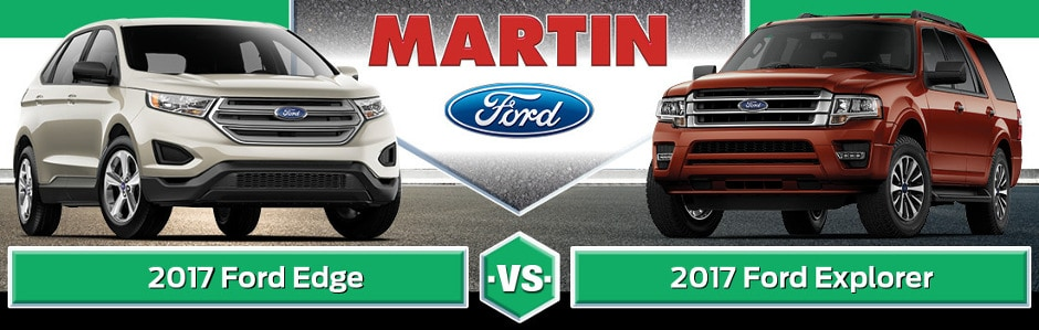 Ford Edge Vs  Ford Explorer Banner