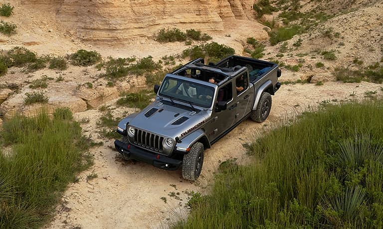 2020 Jeep Gladiator driving with family