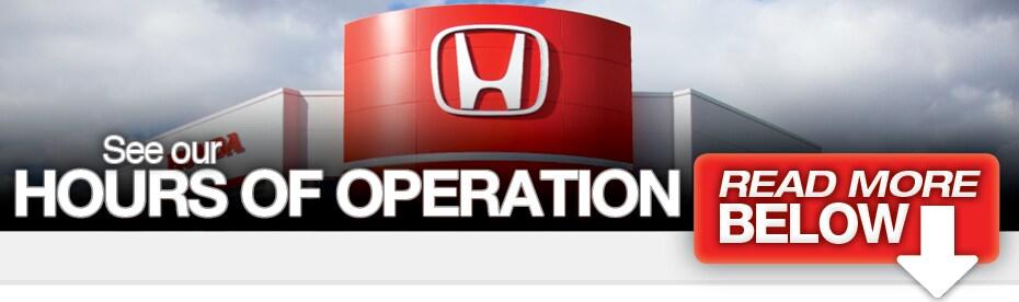 Hours Of Operation Honda Dealer In Maple Ridge Greater