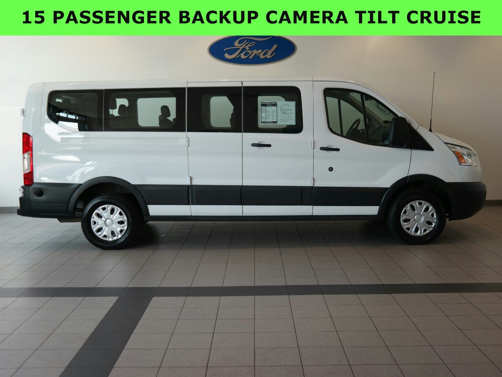 2017 Ford Transit Wagon XLT 15 PASSENGER T-350 148 Low Roof XLT Swing-Out RH Dr