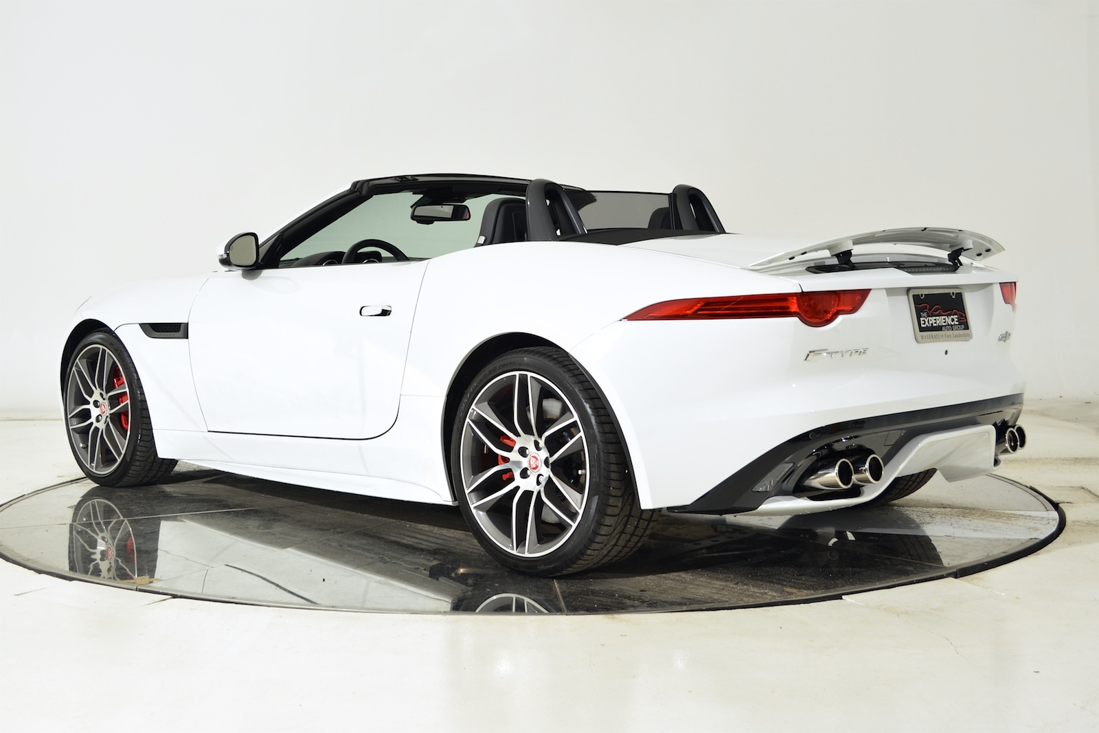 used 2016 jaguar f type r convertible in white for sale ferrari of fort lauderdale. Black Bedroom Furniture Sets. Home Design Ideas