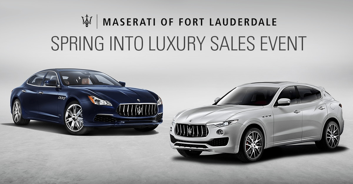 Maserati of Fort Lauderdale Spring Sales Event
