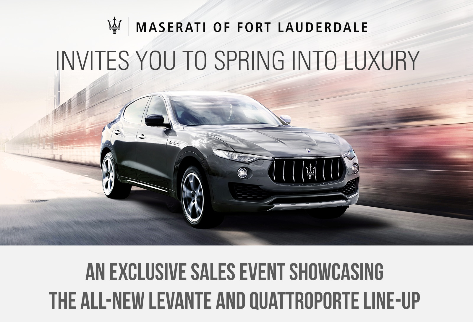 Maserati of Fort Lauderdale Sales event