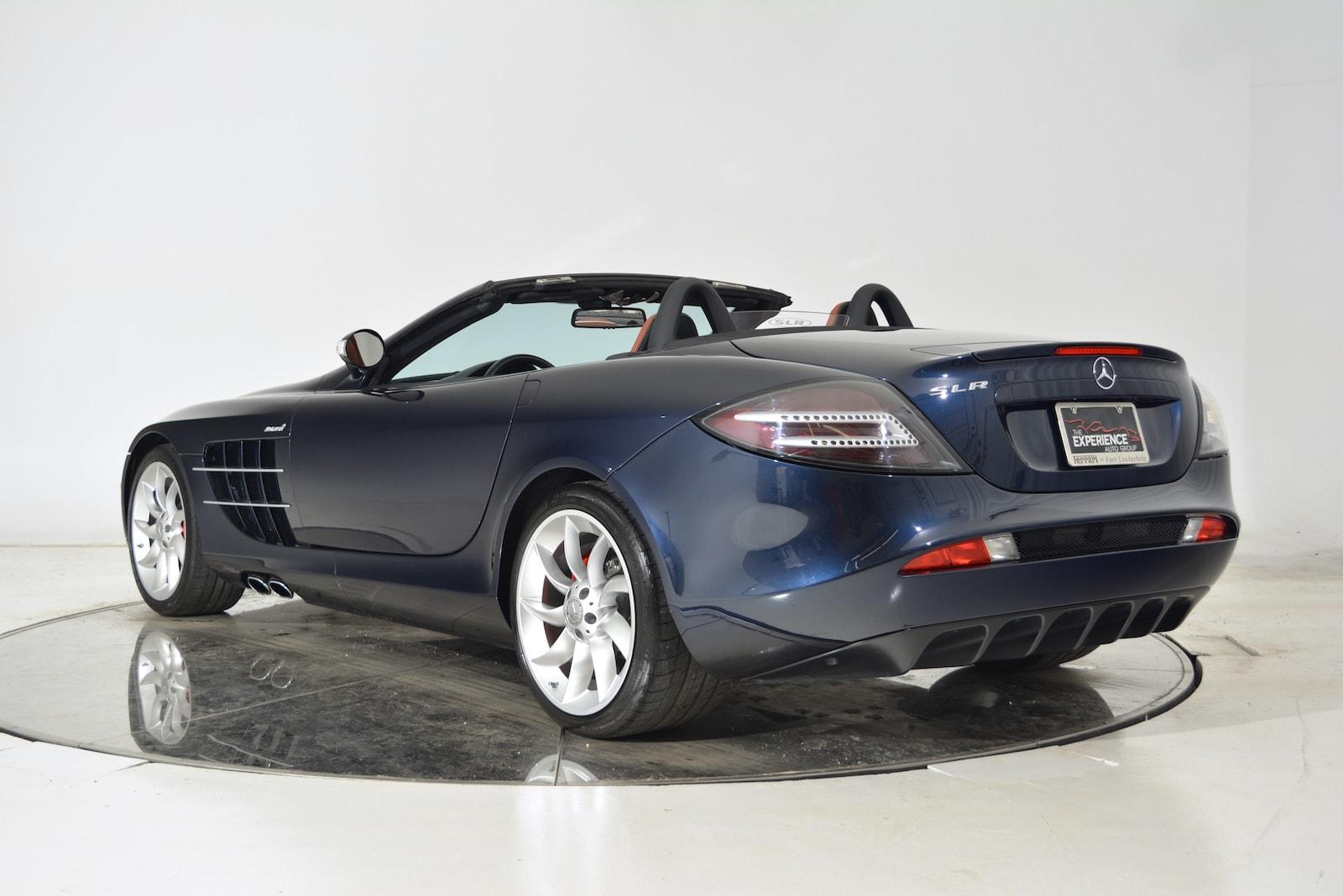 Used 2008 mercedes benz slr mclaren roadster in blue for for Mercedes benz mclaren slr